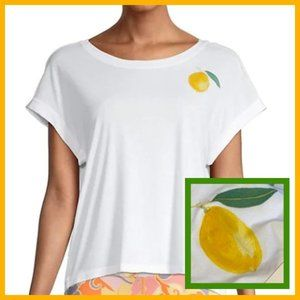 Nanette Lepore Lemon Short-Sleeve Top